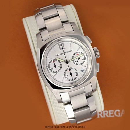 Pre-owned Girard Perregaux Classic Elegance Chronograph 24980-1-11-1041
