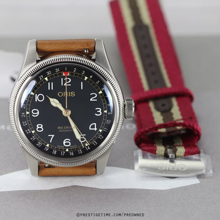 Pre-owned Oris Big Crown Pointer Date MOVEMBER 01 754 7741 4037-Set LS