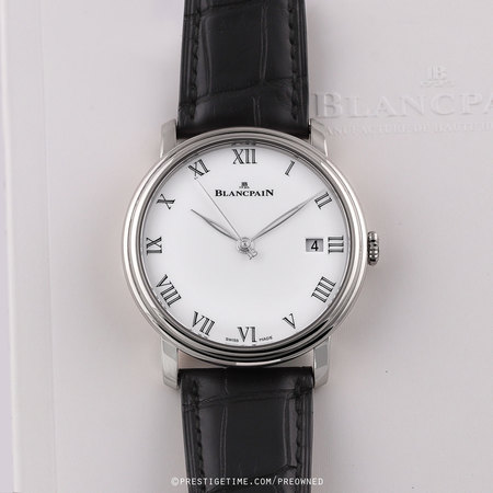 Pre-owned Blancpain Villeret 8 Days Automatic 42mm 6630-1531-55b