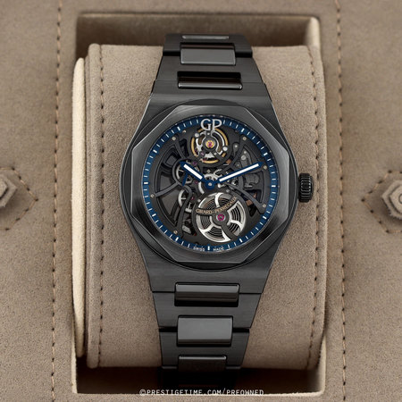 Pre-owned Girard Perregaux Laureato Skeleton Automatic 42mm 81015-32-176032A