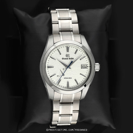 Pre-owned Grand Seiko Heritage Automatic Spring Drive 41mm sbga211 SNOWFLAKE