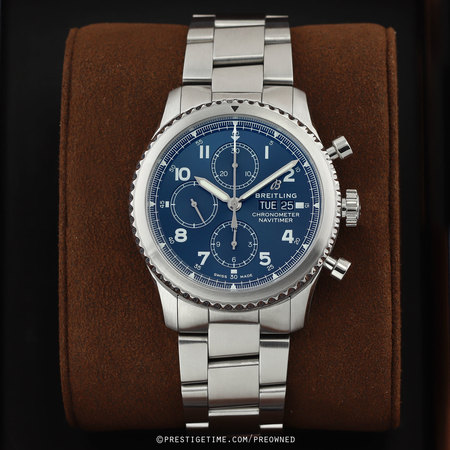 Pre-owned Breitling Navitimer 8 Chronograph 43 a13314101c1a1