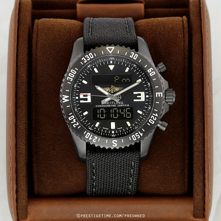 Pre-owned Breitling Chronospace Military m78367101b1w1