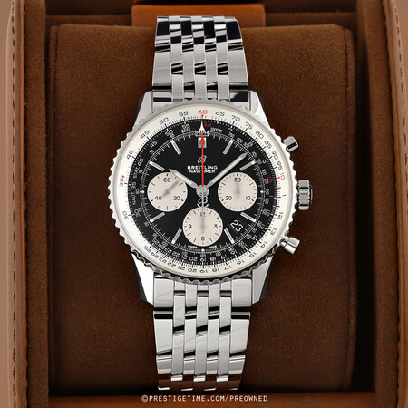 Pre-owned Breitling Navitimer 1 B01 Chronograph 43mm ab0121211b1a1