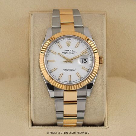 Pre-owned Rolex Datejust 41mm 126333 White Index Oyster