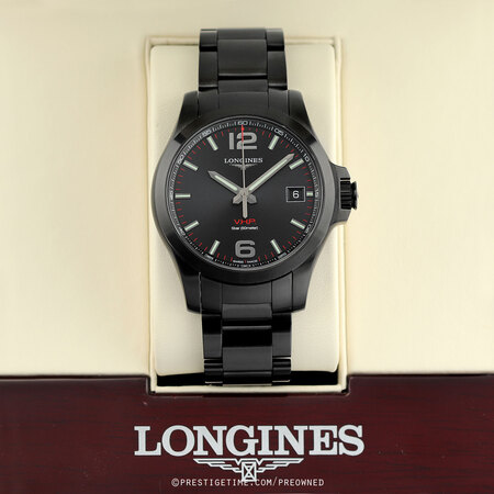 Pre-owned Longines Conquest V.H.P. 41mm L3.716.2.56.6